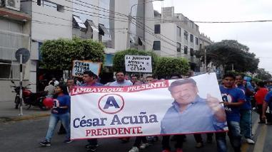 Chiclayo: Recorrido proselitista de APP generó enorme caos