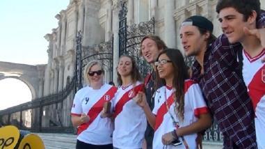 Arequipeños alentaron con gran entusiasmo a la selección Bicolor