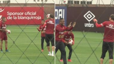 Selección Peruana: Jefferson Farfán castigó a Penny con pelotazo en la cara