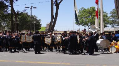 Se realizó I concurso de bandas escolares en honor al Señor de Luren
