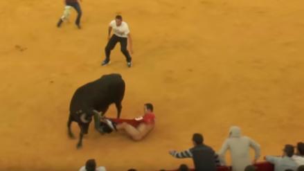 Youtube: Toro dejó en ridículo a corredor al quitarle el pantalón