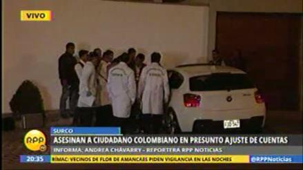 Surco: colombiano fue asesinado a balazos en su auto por sicarios
