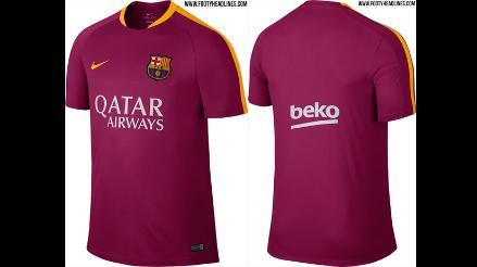 87446fa1f3e9a Barcelona  se filtran imágenes exclusivas de su nueva camiseta Liga BBVA