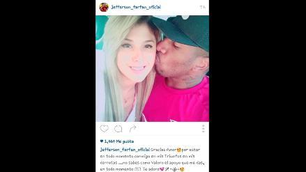Yahaira Plasencia y Jefferson Farfán se dedican románticos mensajes