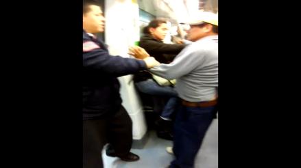 Borracho arma escándalo en vagón del Metro de Lima