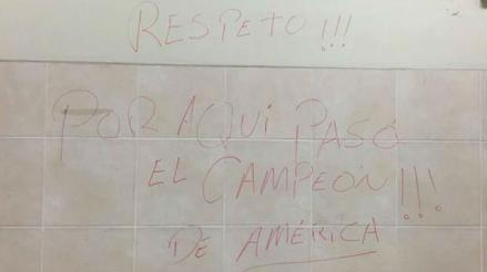 Perú vs. Chile: descubren al jugador chileno que pintó el camerín