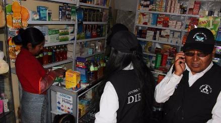 Juliaca: farmacias y boticas expendían medicamentos de dudosa procedencia
