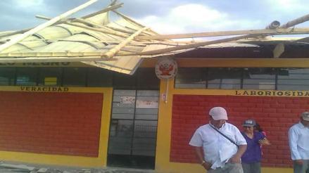 Piura: piden apoyo para restaurar colegio tras vientos huracanados