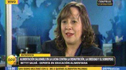 Especialista: No existe cultura alimentaria en hogares o colegios del Perú