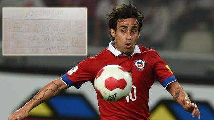 Twitter: Jorge Valdivia aseguró que no realizó pintas en el Estadio Nacional