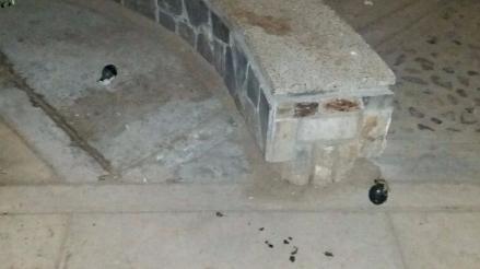 Huancayo: hallan dos granadas de guerra en el frontis de iglesia