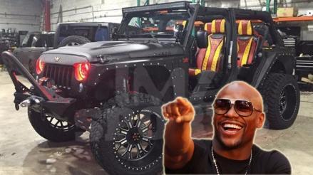 Floyd Mayweather gastó fortuna en asientos de piel de cocodrilo para su Jeep