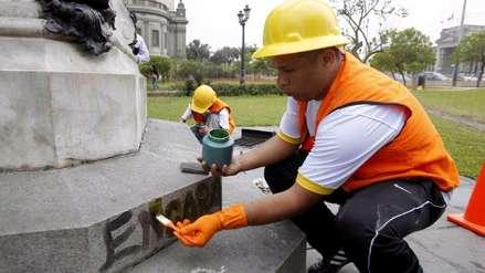 Municipio de Lima restaura monumentos dañados de Parque de los Museos