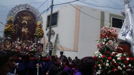 Señor de los Milagros realizó tercer recorrido procesional en Trujillo