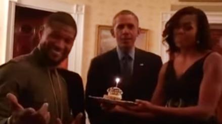 """Usher: Barack Obama le cantó """"Happy Birthday"""""""