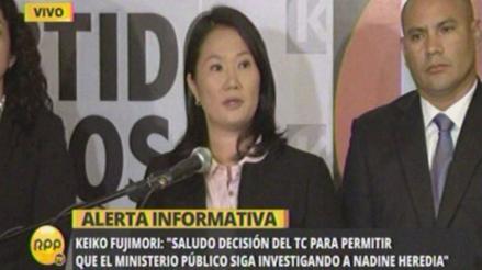Keiko Fujimori exige a Humala que 'destituya' a Heredia como primera dama