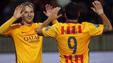 Barcelona superó 2-0 al BATE con doblete de Iván Rakitic por Champions League