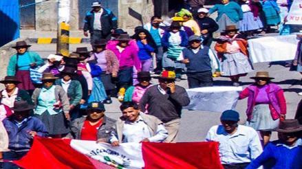 Puquio: comunidades campesinas acatan paro de 48 horas contra minera