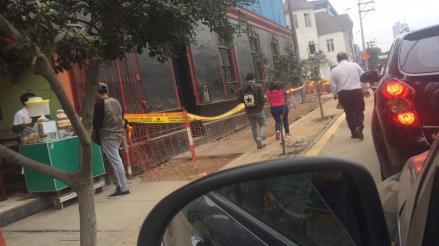 Lima: obra en veredas de la avenida Petit Thouars afectan a peatones