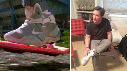 Volver al futuro: Michael J. Fox volvió a lucir las famosas zapatillas