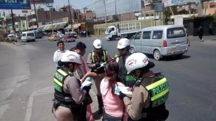 Peatones imprudentes serán sancionados con papeletas en Trujillo