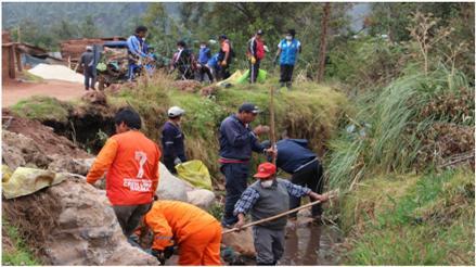 Chincheros: realizan limpieza de ríos ante Fenómeno El Niño