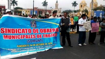 Trujillo: gerente edil asegura que se pagó a obreros en huelga de hambre
