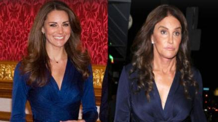 Caitlyn Jenner lució el icónico vestido de Kate Middleton