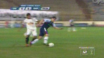 Universitario de Deportes vs. San Martín: la patada picona de Siucho contra Corzo