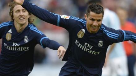 Real Madrid ganó 3-1 al Celta de Vigo y tomó en solitario la punta de la Liga BBVA