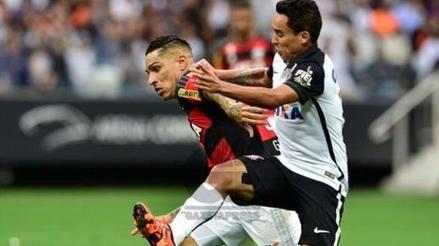 Paolo Guerrero: Flamengo perdió 1-0 ante el Corinthians por el Brasileirao