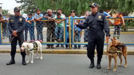 Chiclayo: canes donados a PNP se sumarán a labores de rescate por
