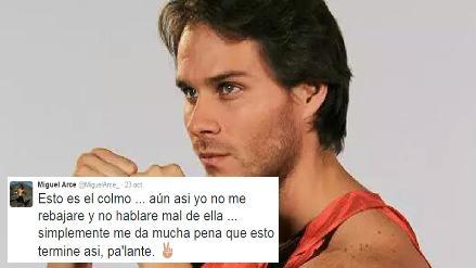 Miguel Arce respondió en Twitter acusaciones de agresión