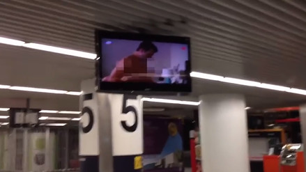 Aeropuerto de Lisboa proyectó accidentalmente video pornográfico