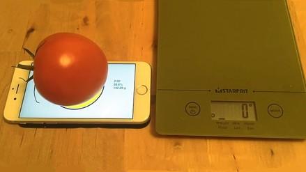 La tecnología 3D touch del iPhone es utilizada como balanza