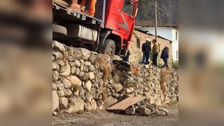 Cusco: andén Inca colapsa por camión