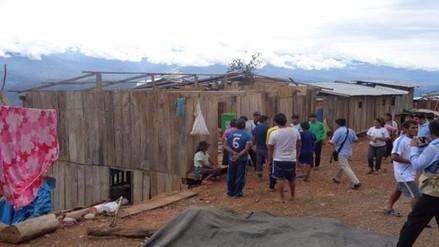 Viviendas del VRAEM quedaron sin techos tras intensas lluvias y fuertes vientos
