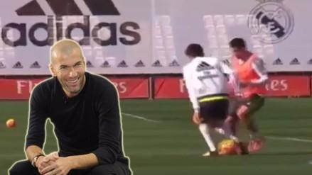 YouTube: James Rodríguez bailó a hijo de Zinedine Zidane con genial 'huacha'