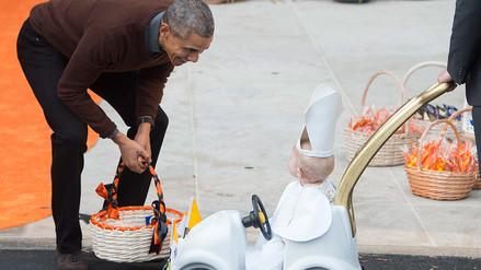 Barack Obama celebró Halloween en la Casa Blanca