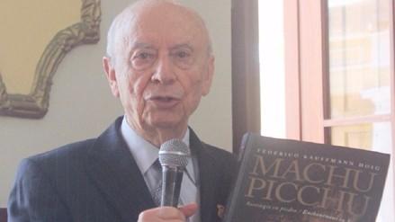 Historiador Federico Kauffmann Doig fue declarado hijo predilecto de Chiclayo