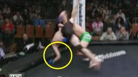 YouTube: peleador de MMA sufrió terrible fractura de brazo en pleno enfrentamiento