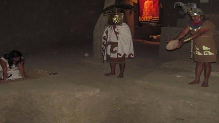 Escenifican ritual ancestral muchik en el día de todos los santos