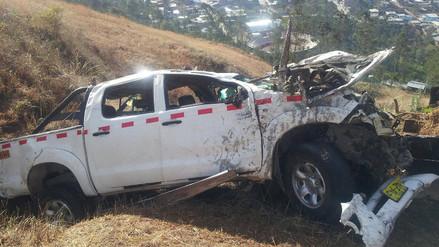 Padre e hijo mueren en vuelco de camioneta en vía Cajamarca – San Pablo