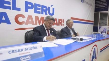 Partido de Lay defiende alianza con Acuña y niega denuncias de corrupción