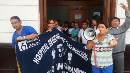 Chiclayo: trabajadores de Salud acatan paro de 24 horas