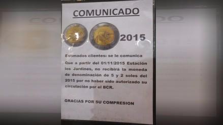 Grifo de SJL se niega a recibir monedas de 2 y 5 nuevos soles
