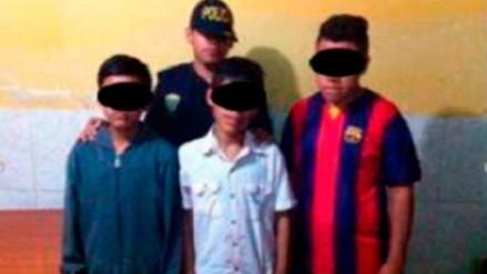 Moche: detienen a tres menores que asaltaban con falso revólver