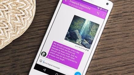 Signal, la aplicación de mensajería más segura, llegó a Android