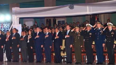Presidente Humala rindió homenaje a soldados del Ejército Peruano