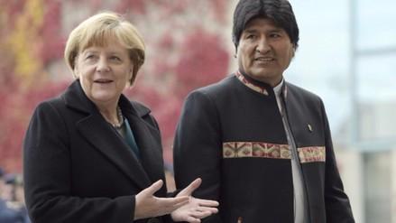 Merkel impresionada por avance de Bolivia en gira de Morales por Europa